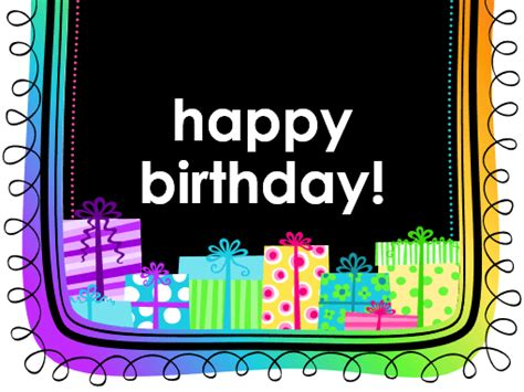 office birthday card template birthday card gifts on black background half fold