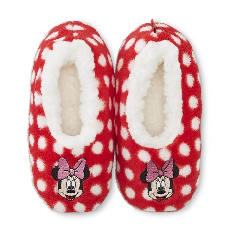 minnie mouse slippers disney minnie mouse s fleece slippers