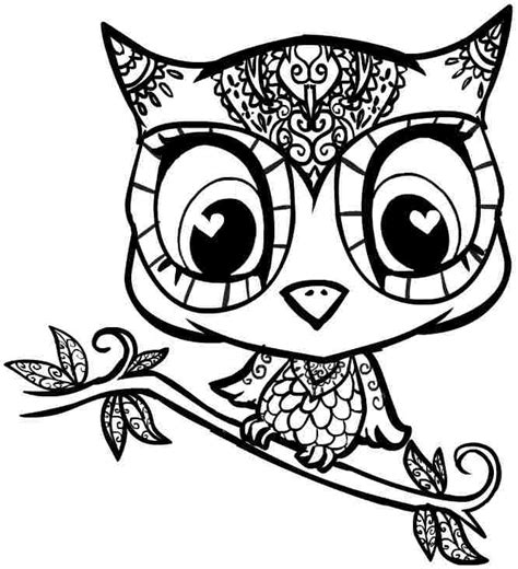 Printable Of Owls  Free Coloring Pages On Art sketch template