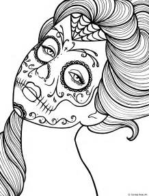 day of the dead coloring sheets free printable day of the dead coloring book page by
