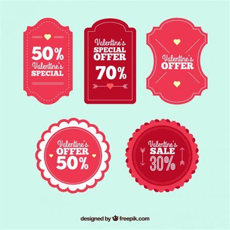 valentines sales retro valentines day sales labels vector premium