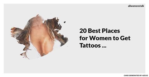 20 best places for women to get tattoos
