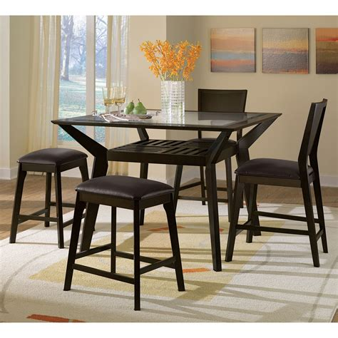 value city dining table mystic 5 pc counter height dinette w 2 backless stools
