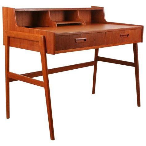 vintage danish teak desk vintage danish teak writing desk for sale at 1stdibs