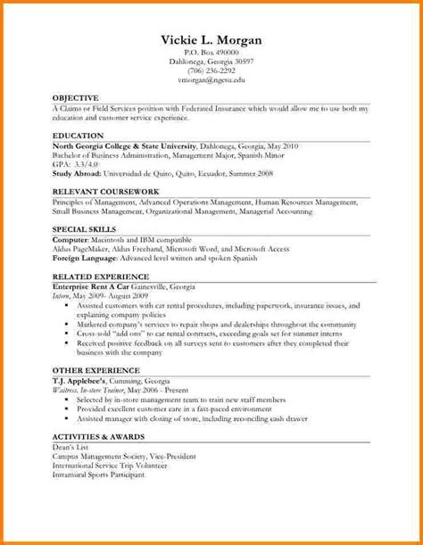 Resume Sle With Limited Work Experience 7 Resume Sle Work Experience Normal Bmi Chart