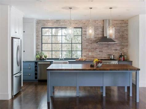 Exposed Brick Chimney In Kitchen Round Black Webbing