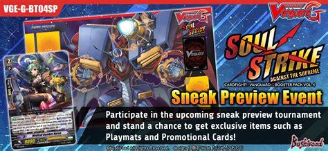 Vanguard Gbt 12 Booster sneak preview tournaments g booster pack vol 4