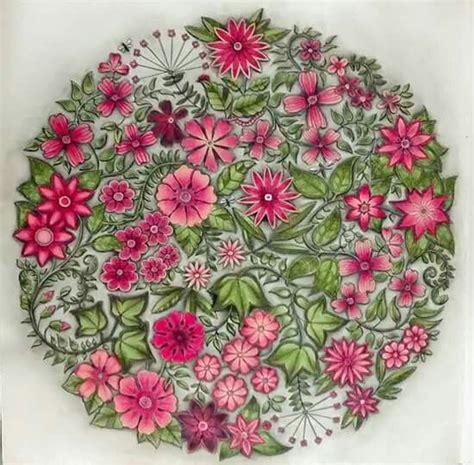 johanna basford quot secret garden quot flower mandala