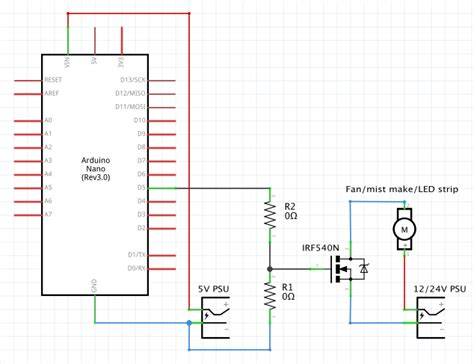pull resistor typical value gate and pull resistor values for mosfet and arduino nano