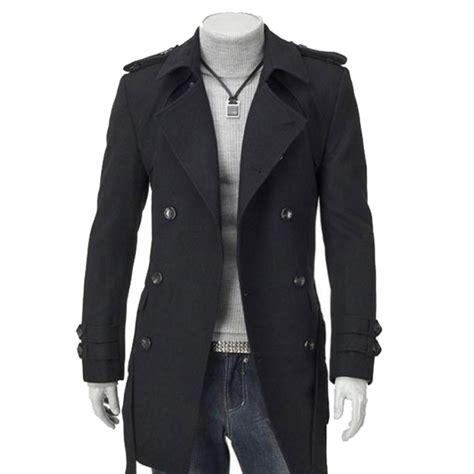 Pea Coat Winter Coat Trench Coat Jacket Coat Coat Pria Blc 8 breasted design winter stylish trench coat jacket casual outerwear pea coat free