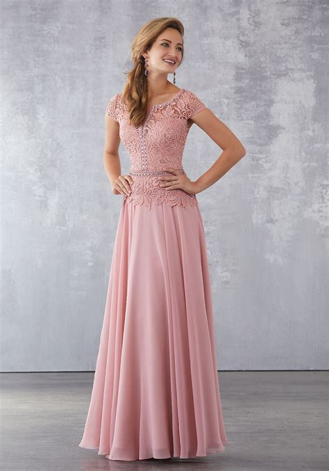 chiffon special occasion dress  beaded lace bodice