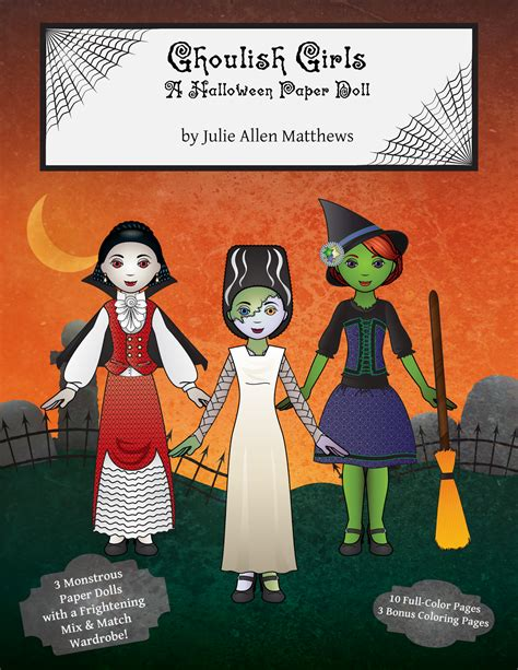 paper girls n 10 8416816344 paper doll ghoulish girls a halloween paper doll