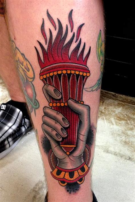 traditional torch tattoo torch by jonathan montalvo tattoonow