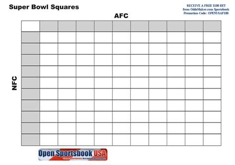 94 free blank printable football pools football squares