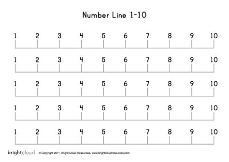 printable number line by 5 s best photos of printable number line 1 10 printable