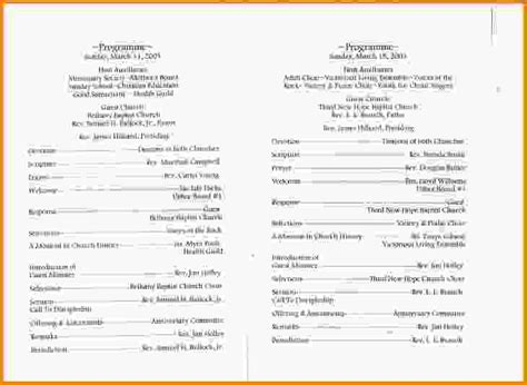 sle program templates wedding program sle template