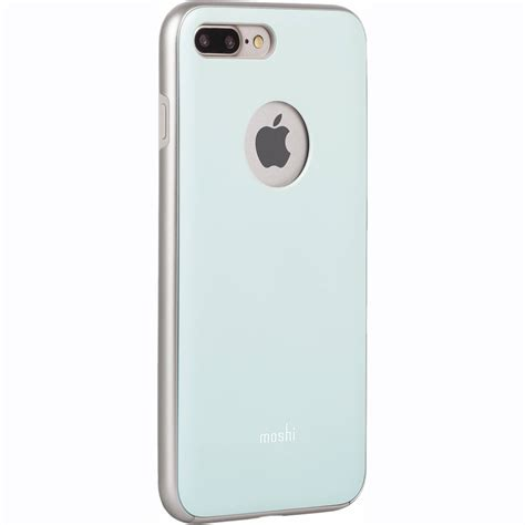 h iphone 7 plus moshi iglaze for iphone 7 plus teal 99mo090521 b h photo