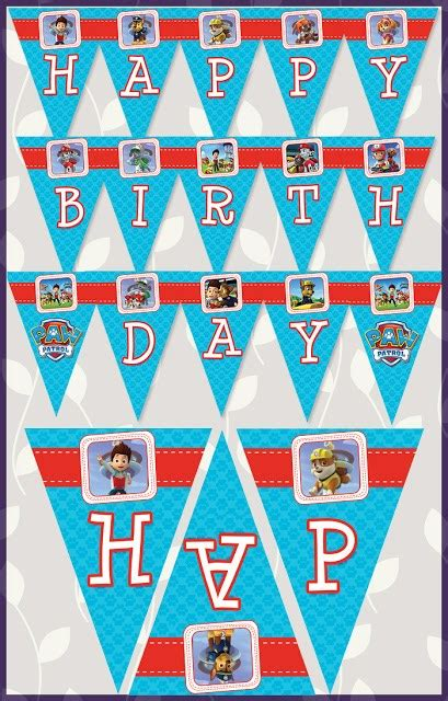 printable paw patrol party decorations free paw patrol birthday party printables little wish