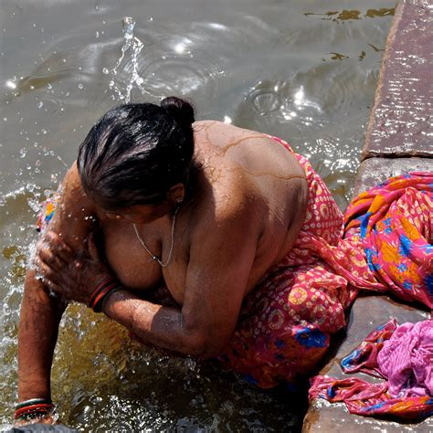 meaty old aunty bathing in river stephani as soon as naked girl