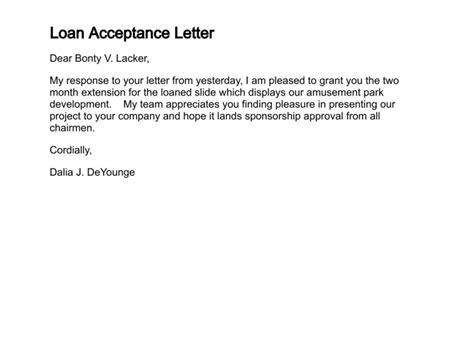 Loan Deduction Letter Format how to write a letter of acceptance
