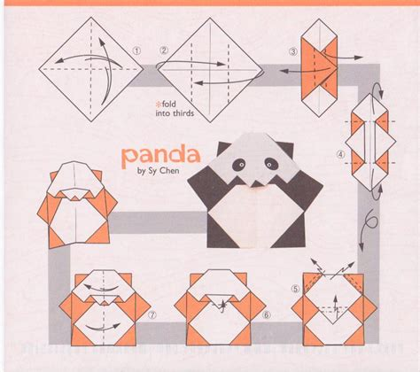 How To Make A Origami Panda - easy origami panda origami