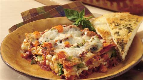garden vegetable lasagna recipe bettycrockercom