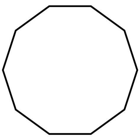 How Many Interior Angles Does A Decagon by Decagon Picture Images Of Shapes