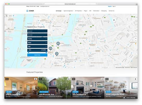 themes google maps 40 best real estate wordpress themes for agencies