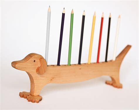 pencil holders for desks wood pen holder dachshund desk organizer pencil by