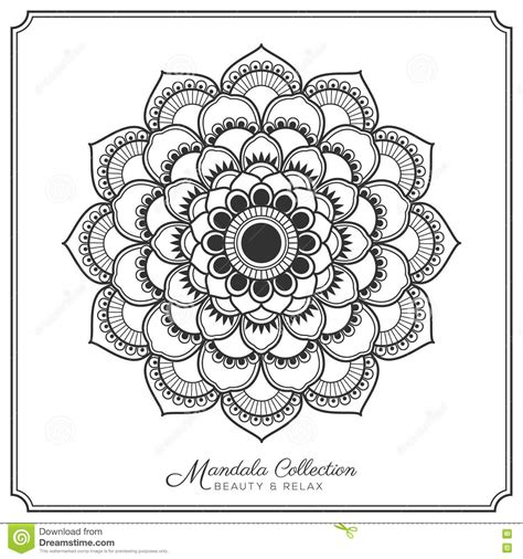 mandala tattoo template mandala tattoo design template vektor abbildung