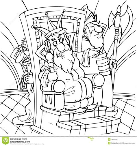 king on throne coloring page bible character coloring king stock photography image 14555402