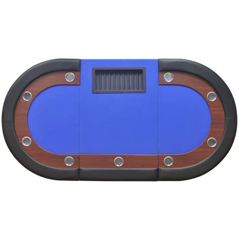 10 player poker with dealer area and chip tray blue
