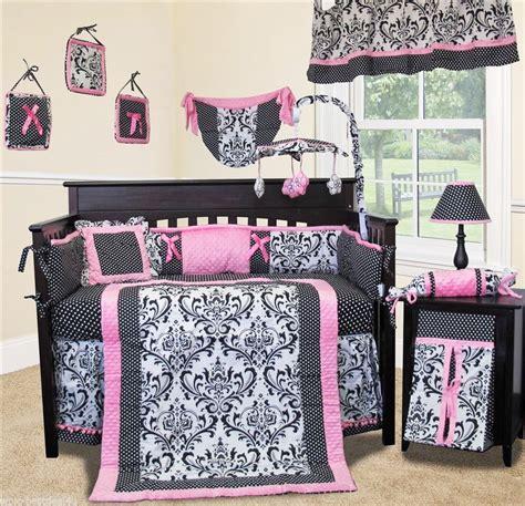 Baby Boutique Rose Damask 13 Pcs Crib Nursery Bedding Damask Crib Bedding Sets