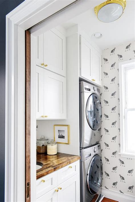 Laundry Room Cabinet Hardware Cabinets Washer And Dryer Transitional Laundry Room