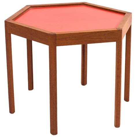 Teak Side Table Hans C Andersen Octagonal Teak Side Table At 1stdibs