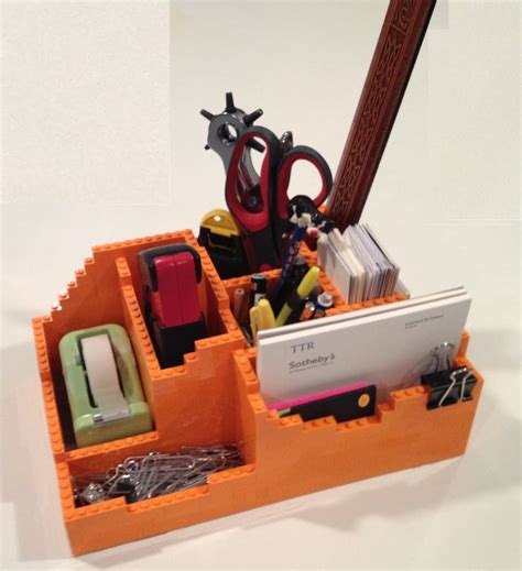 my custom made lego desk organizer desk tidy