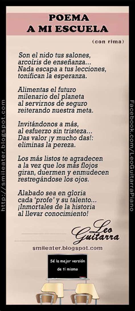 poesia para mi colegio de 5 estrofas smileater 2nd acrostico a maria con rima