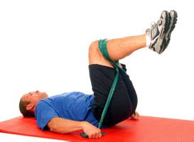 thera band abdominal crunch lower abs performance