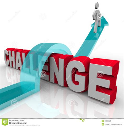 challenge a will jumping a challenge to achieve success stock photo