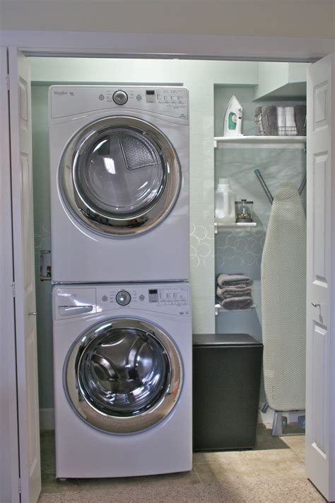 Small Laundry Room Storage Color And Bubbles Using Tp Roll Laundry Room Makeover Stackable Washer And Dryer Home Ideas