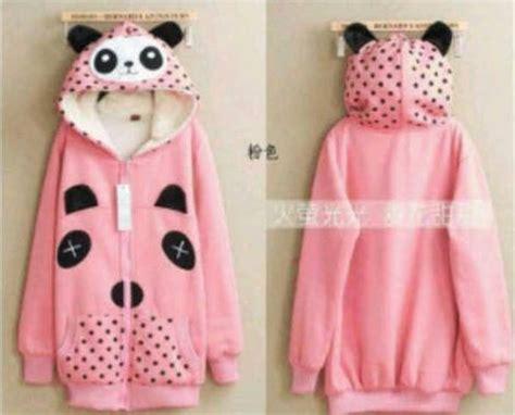 Jaket Doraemon Hoodie Polka Pink jaket panda cewek pink koleksi jacket remaja keren