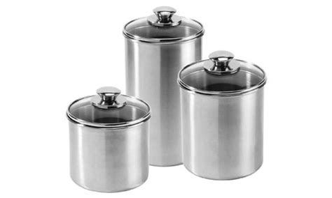 brushed stainless steel canisters contemporary kitchen 65 best images about kitchen canister loves on pinterest