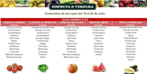 J I O cajas de la semana 16 al 20 de julio disfruta verdura