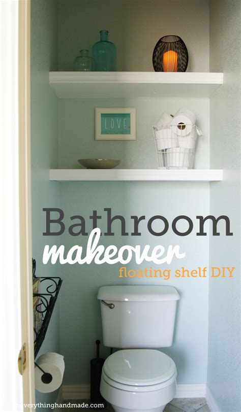floating shelves in bathroom diy bathroom makeover floating shelves