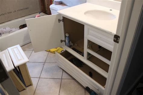 remove bathroom vanity how to turn a builder grade vanity into a custom and chic