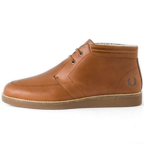 fred perry southall mens chukka boots in