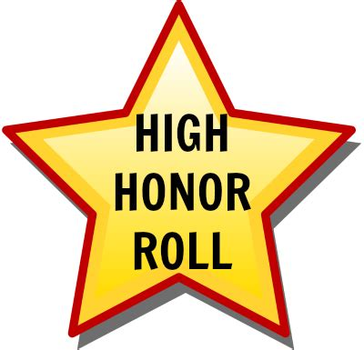 Do They Announce Honors And High Honors Are Mba Graduation by Honor Roll Clipart Jaxstorm Realverse Us