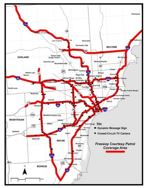 mdot construction map mdot where does the freeway courtesy patrol operate
