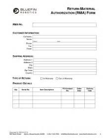 rma request form template rma form template l vusashop
