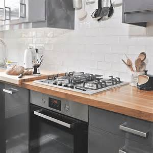 Oak Kitchen Island Units Grey Gloss And White Kitchen Decorating Housetohome Co Uk